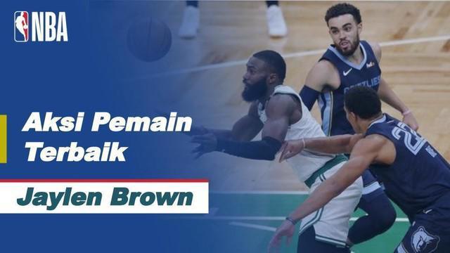 Berita Video, Melihat Aksi Jaylen Brown Saat Boston Celtics Melawan Memphis Grizzlies