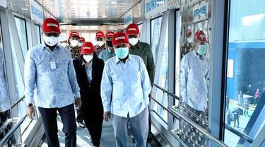 Jusuf Kalla dan Menperin Lepas Ekspor 33 Garbarata Buatan Bukaka ke Thailand