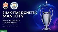 Liga Champions - Shakhtar Donetsk Vs Manchester City (Bola.com/Adreanus Titus)