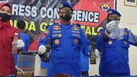 Direktorat Kepolisian Perairan dan Udara (Polairud) Polda Gorontalo saat melakukan konfrensi pers (Arfandi Ibrahim/Liputan6.com)
