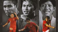 Timnas Indonesia - Evan Dimas, Osvaldo Haay, Adam Alis (Bola.com/Adreanus Titus)