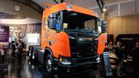 Scania R580 untuk pasar Indonesia diperkenalkan di Swedia. (Septian/Liputan6.com)