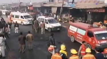 VIDEO: Bom Bunuh Diri di Pos Polisi Pakistan Tewaskan 11 Orang