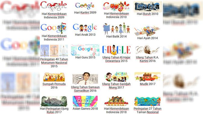 20 Google Doodle bertema Indonesia. Dok: Google Indonesia