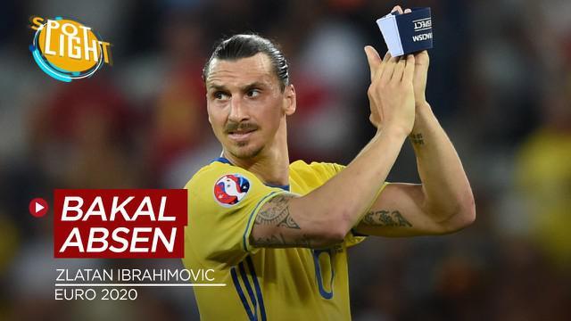 Berita video spotlight tentang empat main yang bakal absen di Euro 2020, salah satunya Zlatan Ibrahimovic.