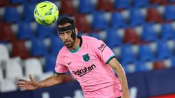 Sergio Busquets merupakan pemain penting di lini tengah Barcelona. Ia juga sukses mengantarkan Timnas Spanyol dalam meraih beberapa gelar dalam satu dekade terakhir. Tak heran jika presentase passingnya mencapai 91.3%. (AFP/Jose Jordan)