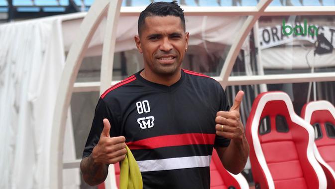 Alberto Goncalves, penyerang Madura United. (Bola.com/Aditya Wany)