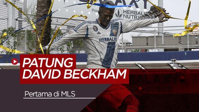 David Beckham Diabadikan LA Galaxy dalam Wujud Patung