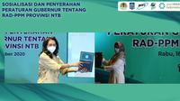 Wakil Gubernur Nusa Tenggara Barat Siti Rohmi Djalilah menerima penghargaan yang diberikan secara virtual oleh Dirjen Pengelolaan Sampah, Limbah dan Bahan Berbahaya dan Beracun KLHK, Rosa Vivien Ratnawati, Rabu (16/12/2020).