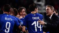 Pelatih Timnas Italia, Roberto Mancini. (AFP/MARCO BERTORELLO)