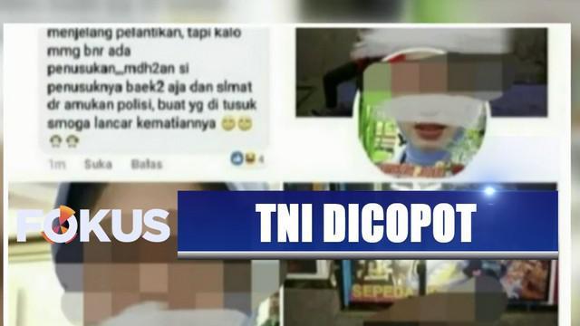 Akibat perbuatan istrinya, karir Peltu YNS pun terancam. Selain mendapat teguran keras, dia juga akan ditahan polisi militer TNI AU.