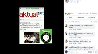 [Cek Fakta] Gambar Tangkapan Layar Pernyataan Menko Polhukam Wiranto