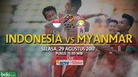 SEA Games 2017 Indonesia Vs Myanmar_3 (Bola.com/Adreanus Titus)