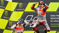 Marc Marquez mulai mewaspadai kebangkitan Jorge Lorenzo pada MotoGP 2018. (MotoGP).