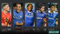 Kolase - 5 Pemain Chelsea, Thorgan Hazard, Oriol Romeu, Patrick van Aanholt, Fabio Borini, Franco Di Santo (Bola.com/Adreanus Titus)