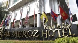 Suasana tampak depan dari Hotel Al Meroz, Bangkok, Kamis, (15/11). Hotel bernuansa Islami itu menjadi tempat penginapan Indonesia jelang laga Piala AFF 2018 melawan Thailand. (Bola.com/M. Iqbal Ichsan)