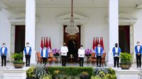 Presiden Joko Widodo (Jokowi) mengumumkan 6 figur Menteri Baru Kabinet Indonesia Maju di Istana Merdeka, Jakarta pada Selasa, 22 Desember 2020. (Biro Pers Sekretariat Presiden/Laily Rachev & Muchlis Jr)