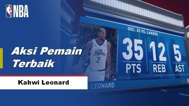 Berita Video Kawhi Leonard membawa Clippers kalahkan LA Lakers 111-106 di NBA Spesial Natal tanggal 26 Desembe 2019