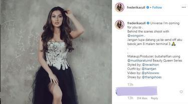 Frederika Alexis Cull Pamer Gaun Meneraawang Jelang Keberangkatan ke Miss Universe 2019