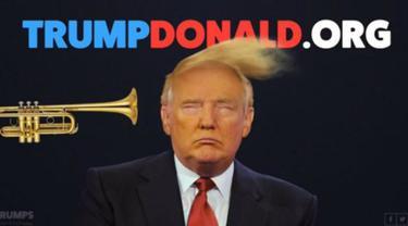 Terompet Unik Penyibak Rambut Calon Presiden