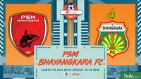 Shopee Liga 1 - PSM Makassar Vs Bhayangkara FC (Bola.com/Adreanus Titus)