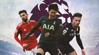 Premier League - Bruno Fernandes, Son Heung-Min, Jack Grealish (Bola.com/Adreanus Titus)