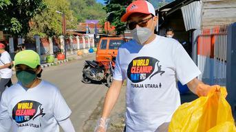 Aksi Wabup Toraja Utara Kumpulkan Ratusan Kilogram Sampah saat Peringati World Cleanup Day