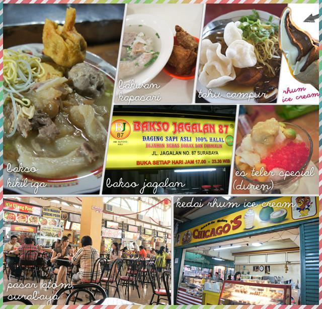 Bakso Jagalan dan sepanjang jalan di samping Pasar Atom bisa menjadi tujuan wisata kuliner Surabaya pada malam hari