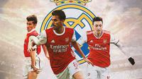 Real Madrid - Davor Suker, Dani Ceballos, Mesut Ozil (Bola.com/Adreanus Titus)