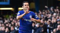 2. Pedro Rodriguez – Bersama Barcelona, Pedro sudah memberikan segalanya berupa gelar bergengsi. Namun karena usia yang sudah 31 tahun membuatnya kian kesulitan bersaing di skuat Chelsea, (AFP/ Glyn Kirk)