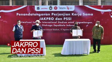 Berita video Timnas Indonesia bisa menggunakan dengan optimal Jakarta International Stadium setelah adanya kerja sama antara Jakpro dan PSSI pada Selasa (17/8/2021) siang hari WIB.