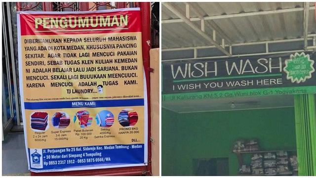 6 Spanduk Promosi Ala Tukang Laundry Ini Bikin Cengar Cengir Hot Liputan6 Com