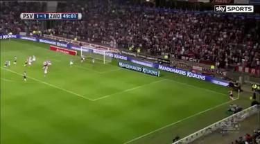 Brenet scores stunning volley! PSV Eindhoven vs PEC Zwolle 3-1 2015