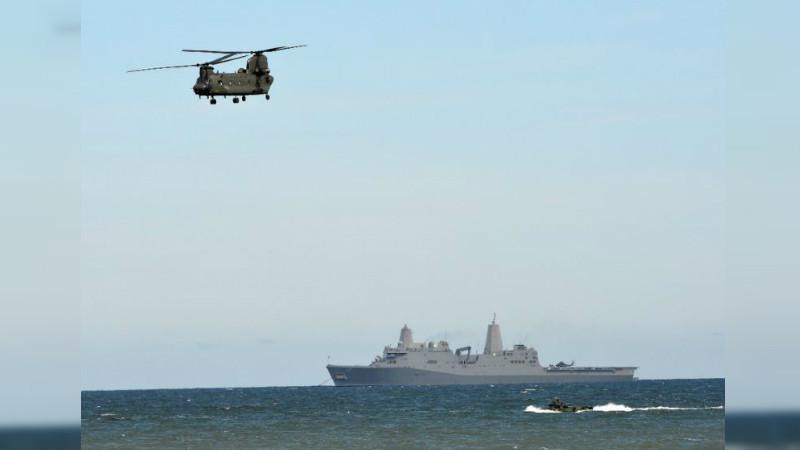 Latihan militer gabungan NATO di Laut Baltik (17/6/2015) (AFP)