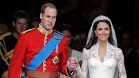 Kate Middleton saat menikah dengan Pangeran William (via istimewa)