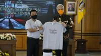 Kepala Staf Kepresidenan Jenderal (Purn) Moeldoko bertemu Gubernur Jawa Tengah Ganjar Pranowo kampayekan protokol kesehatan 3 M melalui pendekatan budaya (Foto:KSP)
