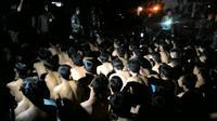 Ratusan Pemuda di Bogor ditangkap (Liputan6.com/ Achmad Sudarno)