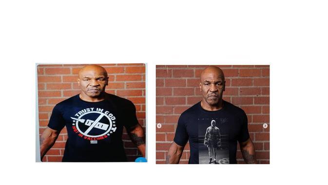Cek Fakta Mike Tyson  memakai kaos anti-vaksin.