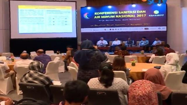 Konferensi dalam rangka pencapaian target akses 100 persen sanitasi dan air minum tahun 2019 digelar di kawasan Sudirman, Jakarta Pusat.