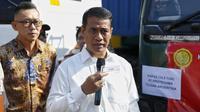 Menteri Pertanian (Mentan) Andi Amran Sulaiman saat berada di tempat pemeriksaan fisik terpadu CDC Banda, Pelabuhan Tanjung Priok