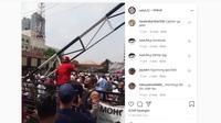 Video sekelompok anggota Ormas menggeruduk Polres Metro Depok. (Instagram @cetul.22)