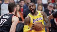 LeBron James memimpin Lakers permalukan Blazers pada laga NBA (AP)
