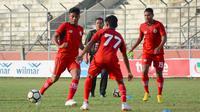 Semen Padang melawan Kalteng Putra di Stadion Tuan Pahoe, Palangkaraya, Selasa (30/10/2018). (Bola.com/Arya Sikumbang)