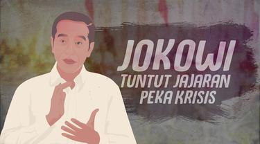 Presiden Joko Widodo menyoroti kinerja jajarannya yang kurang maksimal dalam menghadapi ancaman krisis efek pandemi Covid-19.