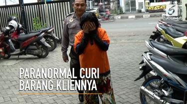 Seorang wanita mengaku paranormal dan mencuri barang milik klien.