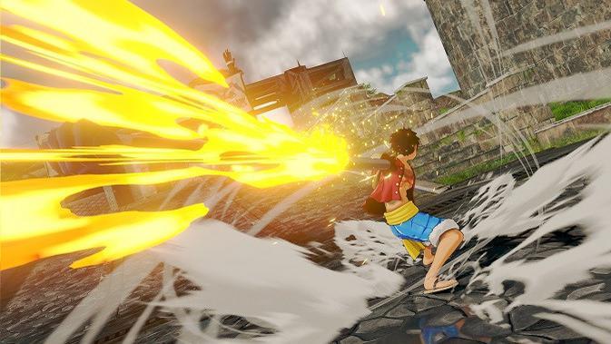 Tampilan gameplay dari gim One Piece: World Seeker (sumber: gematsu)