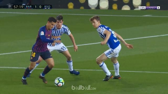 Berita video gol kemenangan Barcelona atas Real Sociedad pada pekan terakhir La Liga 2017-2018 yang berakhir dengan skor 1-0. This video presented by BallBall.