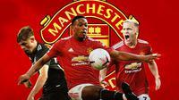 Manchester United - Brandon Williams, Anthony Martial, Donny van de Beek (Bola.com/Adreanus Titus)