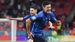 Matteo Pessina - Gelandang Atalanta ini sukses menjadi pembeda saat Italia menumbangkan Austria tadi malam. Menggantikan Barella pada menit ke-67, Pessina berhasil mencetak gol penting untuk memastikan langkah Italia ke perempat final Euro 2020. (Ben Stansall/Pool via AP)