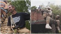 Thomas Dambo, buat karya seni patung kayu yang ia letakkan di hutan. (Sumber: Boredpanda)